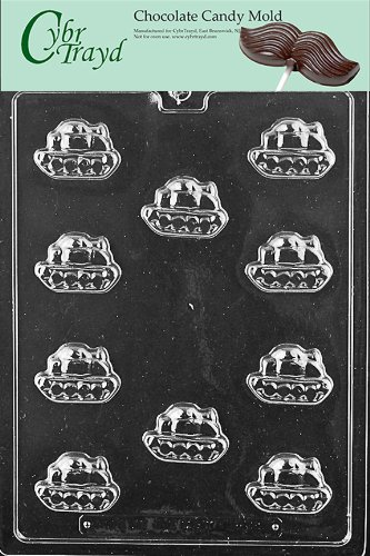 Cybrtrayd Life of the Party K159 Bite Size Military Army Tank Armor Chocolate Candy Mold in Sealed Protective Poly Bag Imprinted with Copyrighted Cybrtrayd Molding Instructions