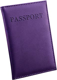 Luxurious Travel Passport ID Card Cover Holder Case,Colour:Brown (Color : Purple)