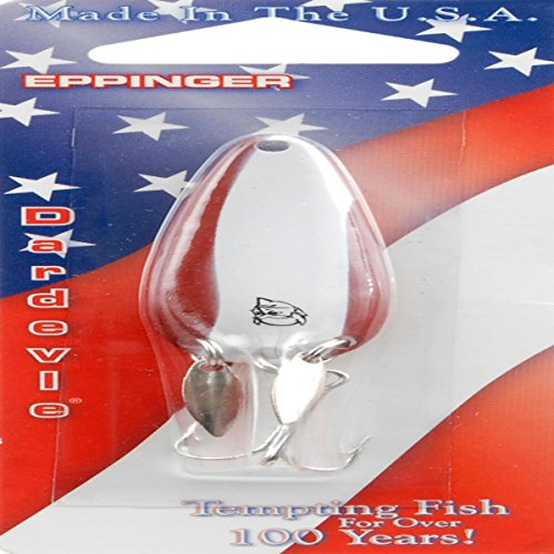Daredevle IMP KLK Fishing Lure, White/Red, 2/5-Ounce
