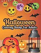 Halloween coloring books for adults: 50 unique design, Cute witches, cats, trick or theaters, bats, haunted houses, vampir...