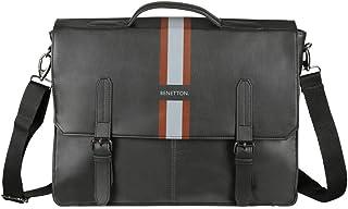 United Colors of Benetton 10 Ltrs Black Laptop Messenger Bag (0IP6LBM01A06I)
