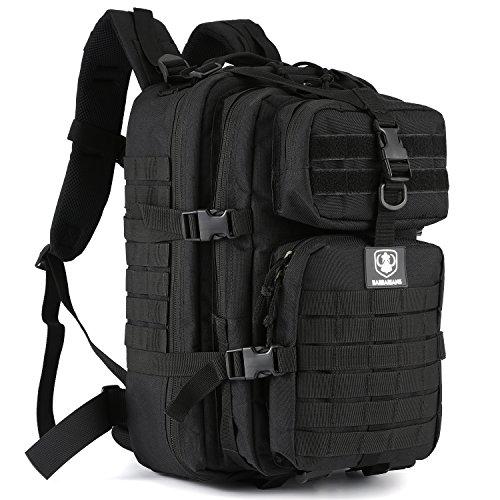 Gonex 30L Trekkingrucksack Wanderrucksack für Outdoor Wandern Camping (Schwarz 2 - taktisch)