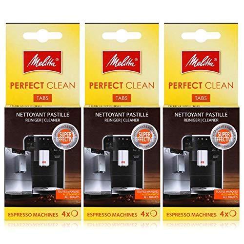 Melitta Perfect Clean Lot de 3 tablettes de nettoyage pour machines à expresso 4 x 1,8 g