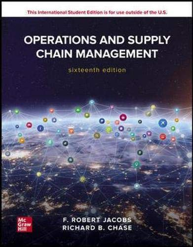 Operations and supply chain management (Scienze)
