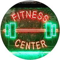 Fitness Center Gym Room Weight Train Dual Color LED看板 ネオンプレート サイン 標識 緑色 + 赤色 400 x 300mm st6s43-i0313-gr