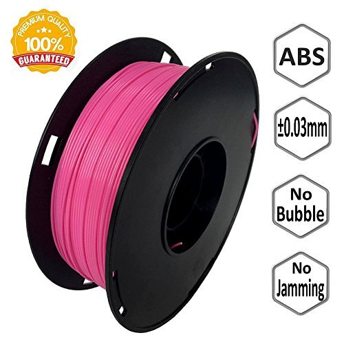 NOVAMAKER 3D ABS-1KG1.75-PIN ABS 3D Printer Filament, Dimensional Accuracy +/- 0.03 mm, 1 kg Spool, 1.75 mm, Pink
