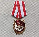 Eeng Orden de la Bandera roja Medalla de la Unión Soviética Bandera roja para la Guerra Premio URSS al heroísmo en Combate MedallaInsignia