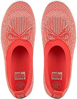 FitFlop Womens Uberknit Slip-On Ballerina with Bow