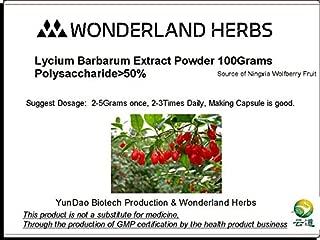 WonderLand Herbs Lycium Barbarum barbary wolfberry extract powder- 3.5oz. Polysaccharide >50% Superfoods supplement.