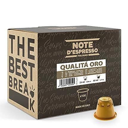 Note d'Espresso - Qualità Oro - Cápsulas de Café - Compatibles con Cafeteras Nespresso*