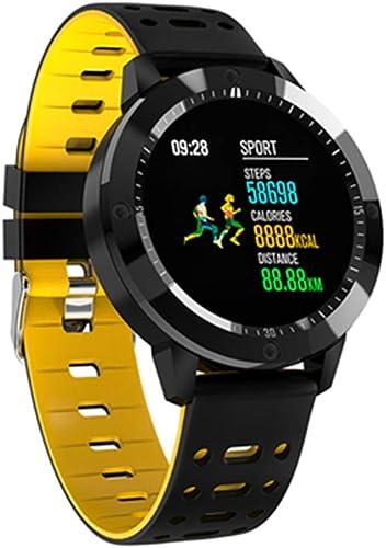 HHJEKLL Bracelet Intelligent Montre Intelligente IP67 imperméable en Verre trempé Activité traqueur de Remise en Forme Bracelet Moniteur de fréquence Cardiaque Sport Hommes Femmes smartwatch
