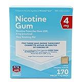 Rite Aid Nicotine Gum, Original Flavor, 4mg - 170 ct