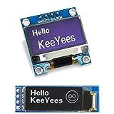 KeeYees OLEDディスプレイ OLEDモジュール 0.96インチ 0.91インチ I2C IIC SSD1306 4ピン Arduino対応 Raspberry Pi対応 (ホワイト)