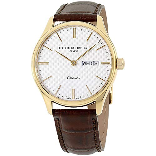 Frederique Constant Classics Silver Dial Leather Strap Men's Watch FC225ST5B5