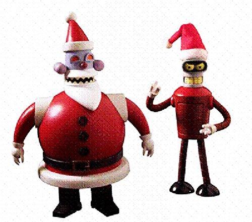 Futurama Bender + Robo Santa 2 Figuras PVC ca 15-17cm de Toynami