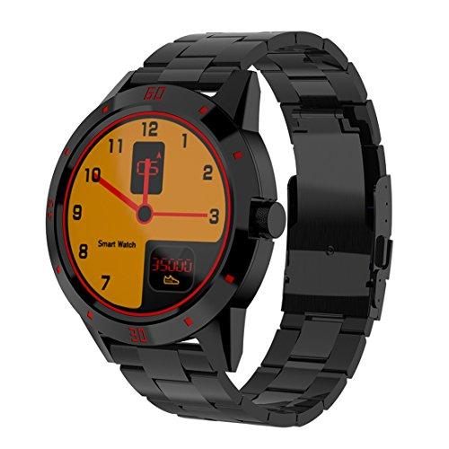 SmartWatch JRC N6 Smart Watch 1.3 pulgadas Pantalla TFT MTK2502C Bluetooth4.0, correa de reloj de acero inoxidable, soporte Monitor de ritmo cardíaco y monitor de sueño y RECORDATORIO DE SEDENDEO (NEG