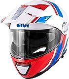 GIVI HX33FDVWR63 Casco, Blanco/Rojo/Azul, XXL