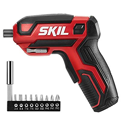Skil Rechargeable 4V Cordless Screwdriver, Includes 9pcs Bit, 1pc Bit Holder, USB Charging Cable - SD561801 from SKIL