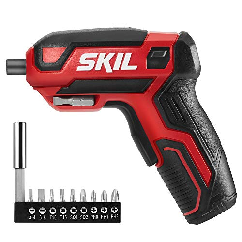 SKIL Rechargeable 4V Cordless Screwdriver, Includes 9pcs Bit, 1pc Bit...