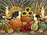 Wooden Jigsaw Puzzle - Thanksgiving Glow - 385 Pieces. Made in USA by Nautilus Puzzles