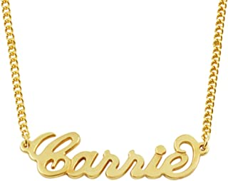 Any Personalized Name Necklace 18k Gold Over Brass Custom Made Any Name