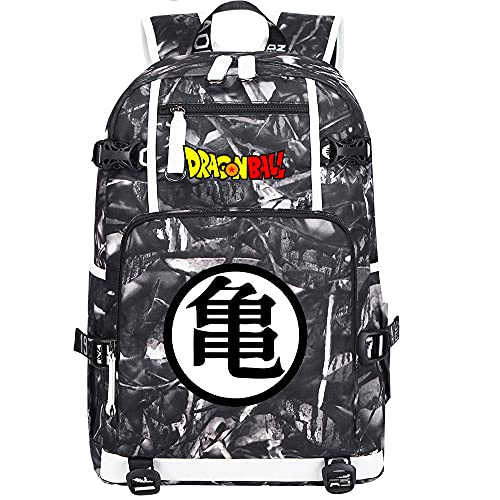 ZZGOO-LL Dragon Ball Anime Backpack Middle Student School Rucksack Daypack for Women/Men with USB-E