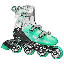 cheap Ladies Roller Derby V-Tech 500 Button Adjustable Inline Skate, Mint