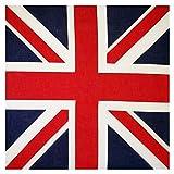 GUMEI 54x54cm Unisex Bandera británica Union Jack Biker pañuelo Cuadrado para fanáticos del fútbol C...