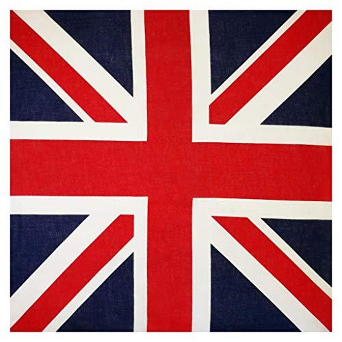GUMEI 54x54cm Unisex Bandera británica Union Jack Biker pañuelo Cuadrado para fanáticos...