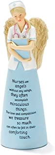 Dicksons Nurses are Angels Without Wings Blue 6 Inch Resin Tabletop Angel Figurine