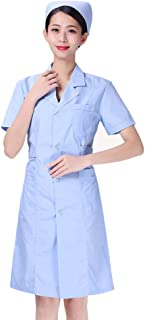 KESYOO Lab Coat Nurse Doctor Work Clothes Protective All Working Uniforms Scrubs for Pharmacy Beautician Nurse(مقاس S)