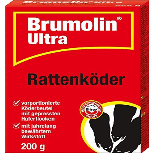 PROTECT HOME Brumolin Ultra Mäuse Getreideköder Flash Grain Mäuseköder und Ratten Köderbox für Rattengift, sichere Ausbringung von Rattenködern