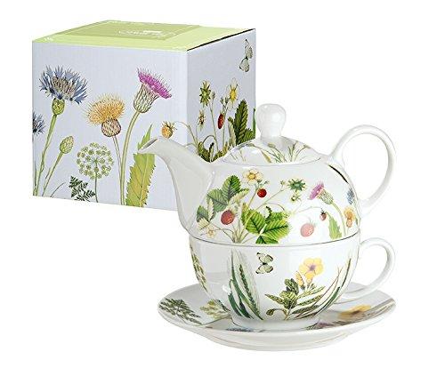 Teekanne aus Porzellan mit Blumenmuster (Wild Flower)
