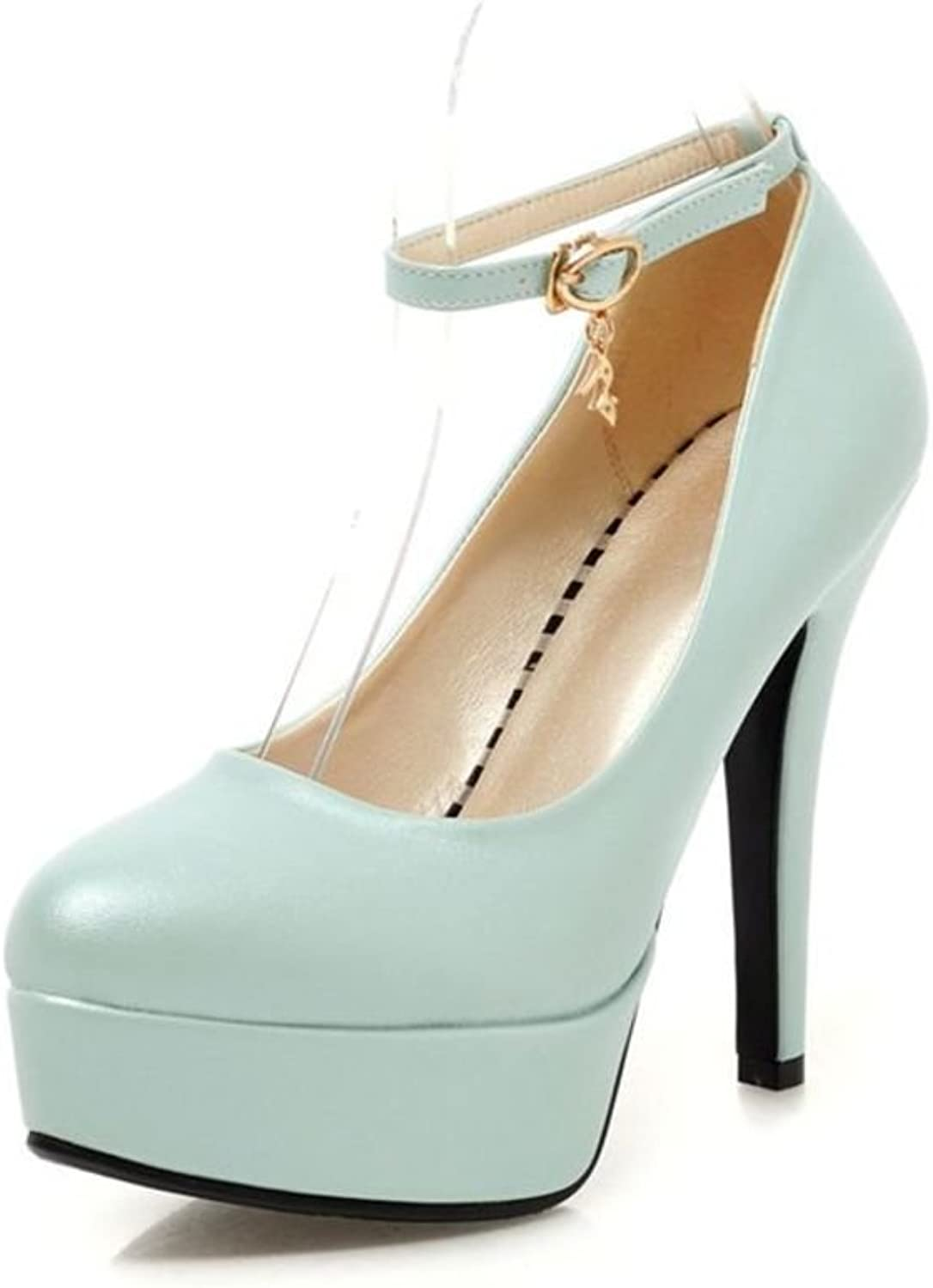 Female ultra high heels  fine told the Princess shoes Sweet sexy women's shoes-A Foot length=22.3CM(8.8Inch)