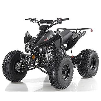 125cc ATV Quad Youth 4 Wheeler Adults ATVs Quads Middle Size 4 Wheelers  Black