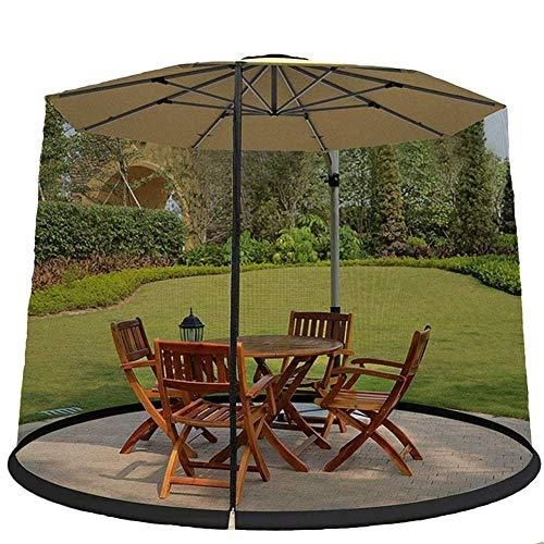 Las sombrillas en las cubiertas de la mesa cubren las mosquiteras, cubren la cubierta de la mosquitera, la pantalla de la sombrilla del jardín al aire libre sombrilla mosquitera Sombrilla al aire lib