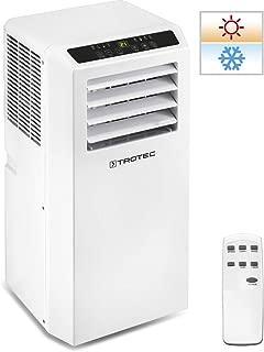 TROTEC Aire Acondicionado Portátil Pac 2010 SH - 4 en 1: Refrigeración- Calefacción- Ventilación y Deshumidificación-Mando a Distancia-Calefacción regulada por Termostato-hasta 26m² - Blanco