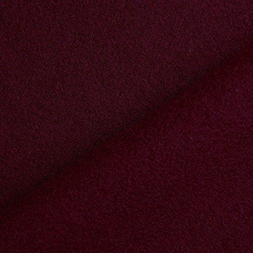 Benedict - Tela 100% de lana - Muy fuerte y opaca - De 1ª calidad - Por metro (Borgoña)