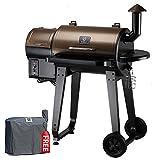 Z GRILLS ZPG-450A 6 in 1 BBQ Grill Auto Temperature Control, 450 sq Inch, Bronze/Black