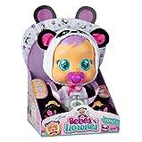 Bebés Llorones Pandy - Muñeca interactiva que llora de verdad con chupete y pijama de Panda