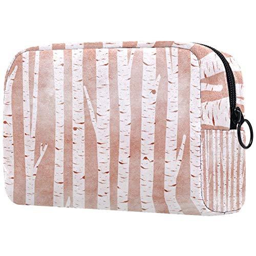 Bolsa de brochas de maquillaje personalizable, portátil, bolsa de aseo para mujer, organizador de viaje, azul, amarillo, morado, flores, hojas verdes