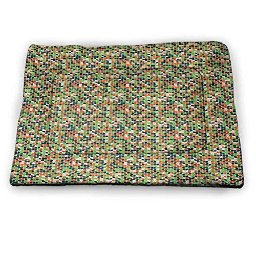 prunushome Pet Cushion Dog Bed Windmill Pet Pillow Bed Flinders Ranges South Australia Mountains Barren Land Summer for Outdoor, Car Seats, Beds in Summer Earth Yellow and Pale Blue (23