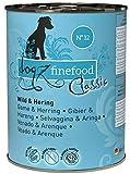 Dogz finefood - Comida húmeda para Perros - N° 12 Wild & piquetas - Comida húmeda para Perros y Cachorros - Sin Cereales y sin azúcar - Alto Porcentaje de Carne - 6 x 400 g Lata
