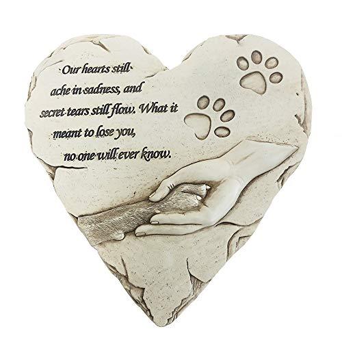 jinhuoba New York Dog Pet Memorial Stones, Hand-Painted Heart-Shaped Loss of Pet Dog Memorial Gifts...