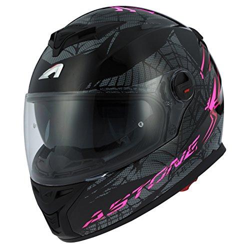 Astone Helmets gt800-spider-pbxs Motorradhelm GT 800, Violett/Schwarz, Größe XS