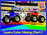 Learn Color Mixing with Monster Trucks - Educational Video for Kids