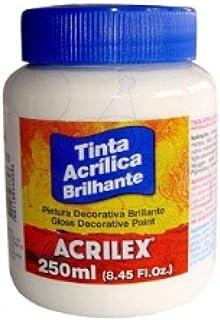 Tinta Acrílica Brilhante Acrilex 250 ml Branco - 519