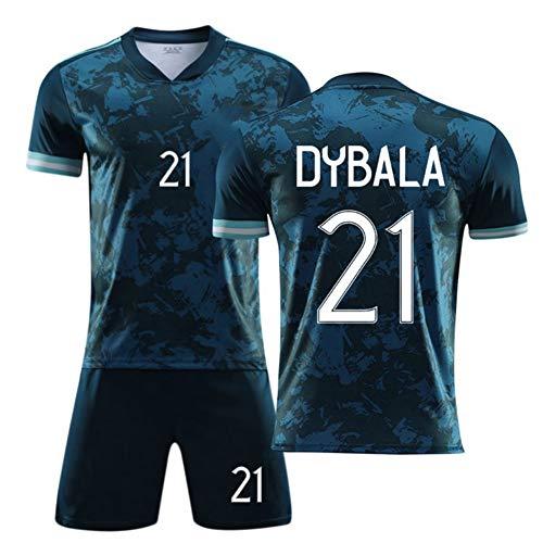 WASX #21 Dybala Soccer Uniform Set Football Jersey,Shirt Shorts Kits for Kids Boys Youth Children,M