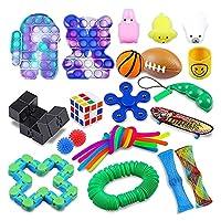 25パック感覚おもちゃセット、プッシュポップポップの自閉症特別ディンプル感覚玩具セット、ディンプル感覚玩具セット子供&成人、ストレスリリーフ、および不安毒物の品揃え (Color : B-25pcs)