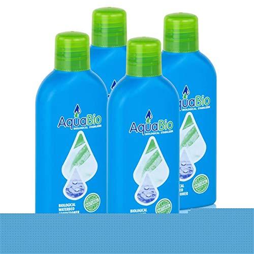 AquaBio biologischer Wasserbett Konditionierer Superkonzentrat 140ml (4er Pack)